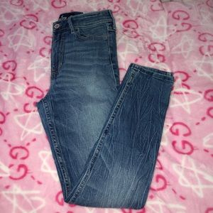 High rise super skinny crop jean